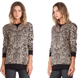 Rag & Bone Women's Black Amoeba Print Sweatshirt